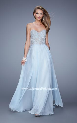 Picture of: Embellished Strapless Dress with Gathered Chiffon Skirt, Style: 20888, Detail Picture 1