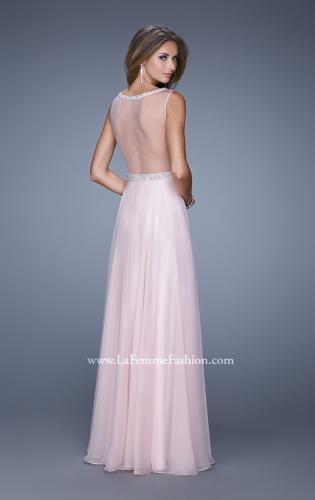 Picture of: Sheer Straps and Lace Bodice Prom Dress with Belt, Style: 20899, Back Picture