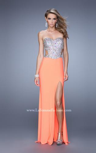 Picture of: Bold Sequined Bodice Prom Dress with Cut Outs, Style: 20968, Detail Picture 1