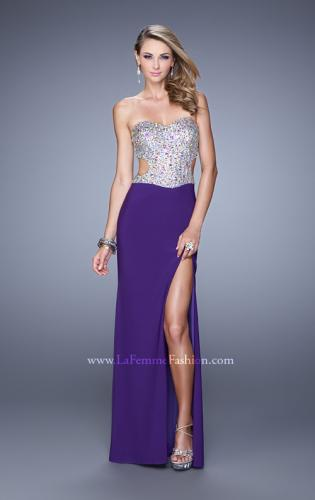 Picture of: Bold Sequined Bodice Prom Dress with Cut Outs, Style: 20968, Detail Picture 2
