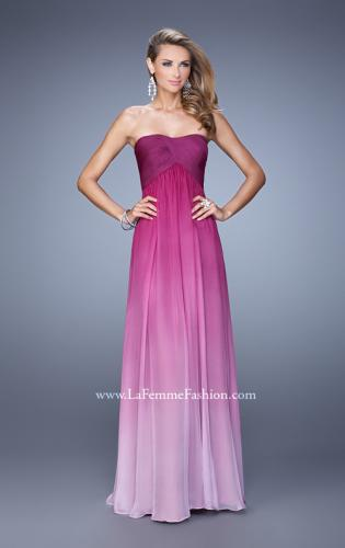 Picture of: Long Ombre Chiffon Prom Dress with Gathered Waist, Style: 20986, Detail Picture 2