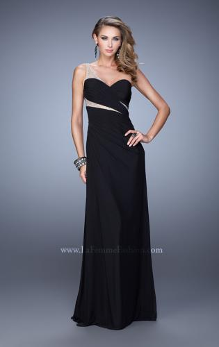 Picture of: One Shoulder Prom Dress with Cut Outs and Rhinestones, Style: 21011, Detail Picture 2