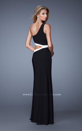 Picture of: Bold One Shoulder Prom Dress with Contrasting Trim, Style: 21029, Detail Picture 1