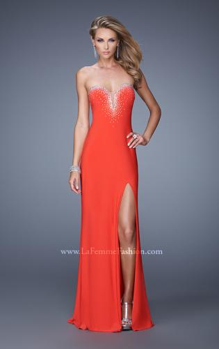 Picture of: Embellished Jersey Prom Dress with Sheer Detail, Style: 21071, Main Picture