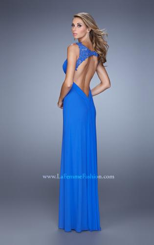 Picture of: Embellished Long Prom Gown with Ruched Bodice, Style: 21084, Back Picture