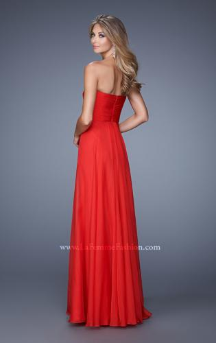 Picture of: Stunning Chiffon Prom Dress with Gathered Bodice, Style: 21154, Back Picture