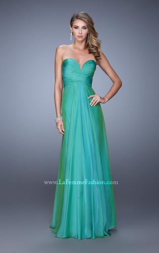 Picture of: Stunning Chiffon Prom Dress with Gathered Bodice, Style: 21154, Detail Picture 2