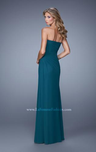 Picture of: Modern Long Prom Dress with Ruched Bodice and Slit, Style: 21193, Back Picture