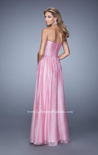 Picture of: High Waist Strapless Prom Dress with Basket Weave Design, Style: 21257, Back Picture