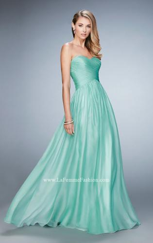 Picture of: High Waist Strapless Prom Dress with Basket Weave Design, Style: 21257, Detail Picture 1