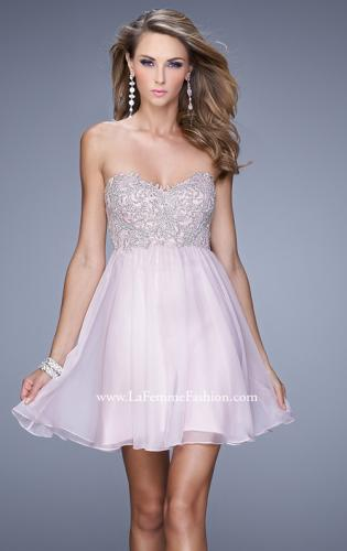 Picture of: Empire Waist Cocktail Dress with Embroidered Bodice, Style: 21332, Detail Picture 1
