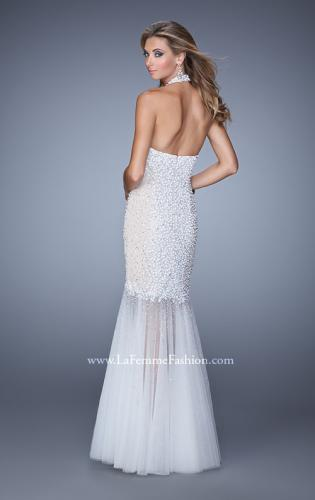 Picture of: Long Fully Beaded Mermaid Prom Dress with Sheer Detail, Style: 21363, Back Picture
