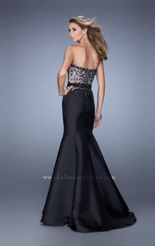 Picture of: Mermaid Prom Dress with Sequins and Belt, Style: 21410, Back Picture