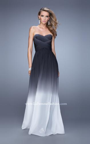 Picture of: Sexy Ombre Print Chiffon Prom Gown with High Waist, Style: 21515, Detail Picture 1