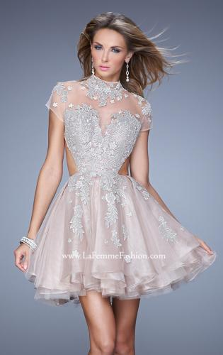 Picture of: Flirty Cocktail Dress with Layered Skirt and Embroidery, Style: 21530, Main Picture