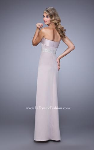 Picture of: Strapless Prom Dress with Intricate Beaded Embroidery, Style: 21554, Back Picture