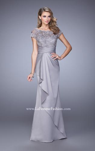Picture of: Glam Evening Dress with Scoop Neckline and Lace Bodice, Style: 21620, Main Picture