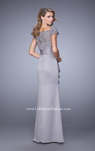 Picture of: Glam Evening Dress with Scoop Neckline and Lace Bodice, Style: 21620, Back Picture