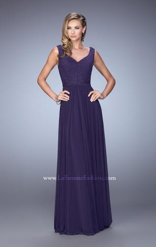 Picture of: V Neck Evening Dress with Jewel Adorned Bodice, Style: 21624, Detail Picture 2