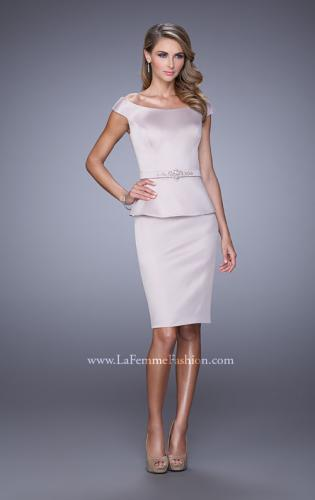 Picture of: Off the Shoulder Cocktail Dress with Beaded Belt, Style: 21637, Main Picture