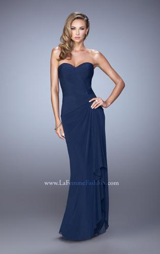 Picture of: Form Fitting Jersey Dress with Knot Detail and Ruffles, Style: 21645, Detail Picture 2