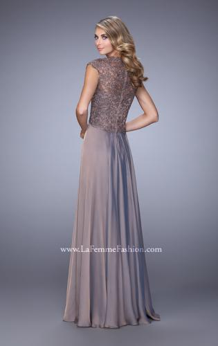 Picture of: Chiffon Dress with Criss Cross Gathered Knot Detail, Style: 21661, Back Picture