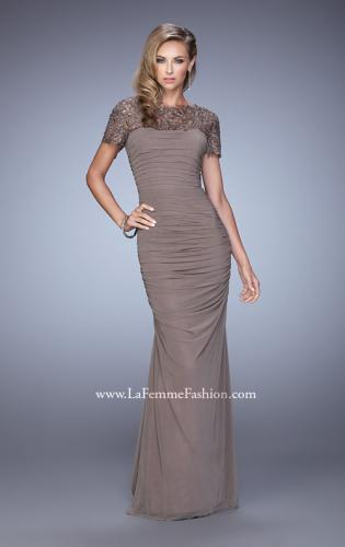 Picture of: Short Sleeve Embellished Dress with Rhinestones, Style: 21713, Detail Picture 1