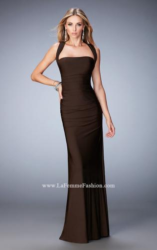 Picture of: Jersey Sheath Gown with Ruching and Scoop Neckline, Style: 21730, Main Picture