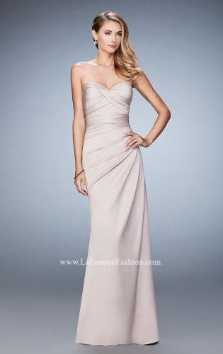 Picture of: Satin Evening Gown with Cropped Lace Jacket, Style: 21776, Detail Picture 1