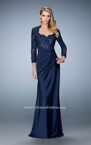 Picture of: Embroidered Lace and Jeweled Top Two Piece Prom Dress, Style: 21944, Main Picture