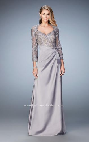Picture of: Embroidered Lace and Jeweled Top Two Piece Prom Dress, Style: 21944, Detail Picture 1