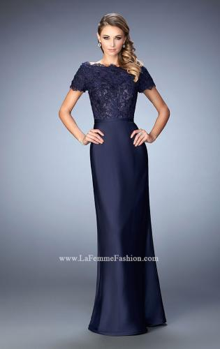 Picture of: Off the Shoulder Evening Gown with Jeweled Bodice, Style: 21962, Detail Picture 1