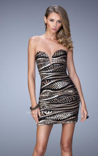 Picture of: Long Sequin Patterned Dress with Sweetheart Neckline, Style: 21987, Main Picture