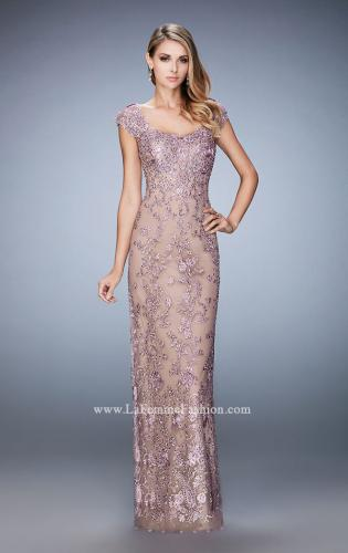 Picture of: Lace Evening Dress with Embellishments and Rhinestones, Style: 22039, Main Picture