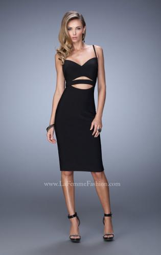 Picture of: Bold Jersey Dress with Cut Outs and a Back Slit, Style: 22045, Detail Picture 1
