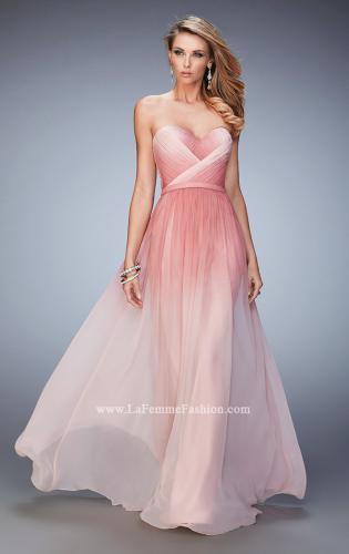 Picture of: Ombre Chiffon Prom Dress with Gathered Bodice, Style: 22156, Main Picture