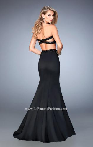 Picture of: Two Piece Prom Dress with Sequin Top and Waistband, Style: 22220, Back Picture