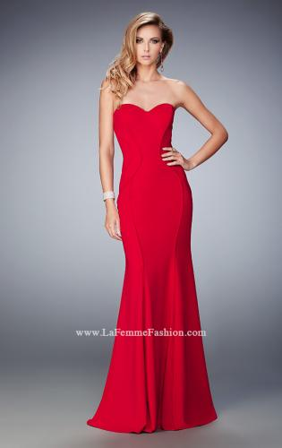Picture of: Sweetheart Neckline Long Jersey Prom Gown with Piping, Style: 22401, Main Picture