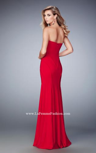 Picture of: Sweetheart Neckline Long Jersey Prom Gown with Piping, Style: 22401, Back Picture