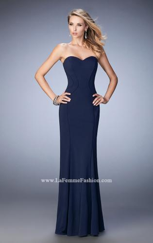Picture of: Sweetheart Neckline Long Jersey Prom Gown with Piping, Style: 22401, Detail Picture 1