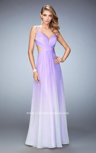Picture of: Long Ombre Chiffon Prom Dress with Beaded Strappy Back, Style: 22416, Main Picture