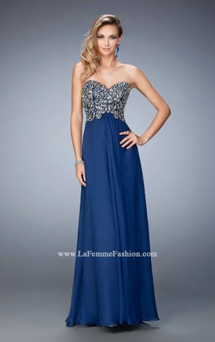 Picture of: Crystal and Rhinestone Embellished Chiffon Prom Dress, Style: 22420, Main Picture