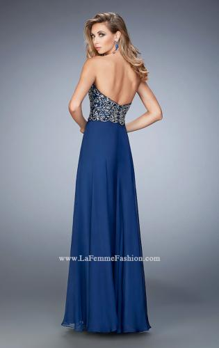 Picture of: Crystal and Rhinestone Embellished Chiffon Prom Dress, Style: 22420, Back Picture