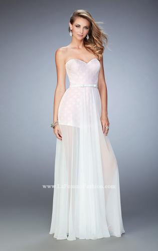 Picture of: Polka Dot Jumper with Long Chiffon Overskirt and Bow, Style: 22484, Main Picture