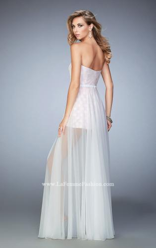 Picture of: Polka Dot Jumper with Long Chiffon Overskirt and Bow, Style: 22484, Back Picture