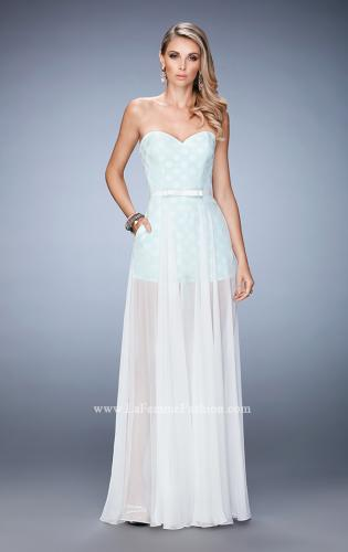 Picture of: Polka Dot Jumper with Long Chiffon Overskirt and Bow, Style: 22484, Detail Picture 1
