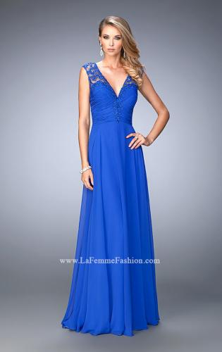 Picture of: Crepe Chiffon Prom Dress with Embroidery, Style: 22583, Main Picture