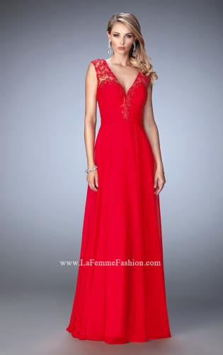 Picture of: Crepe Chiffon Prom Dress with Embroidery, Style: 22583, Detail Picture 1