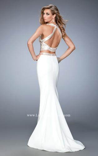 Picture of: Embellished Two Piece Prom Dress with Train, Style: 22587, Back Picture