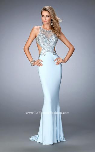 Picture of: Embellished Jersey Gown with Side Cut Outs, Style: 22642, Main Picture